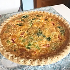 Quiche with crust