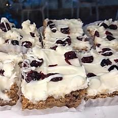 White Chocolate Cranberry Blondie