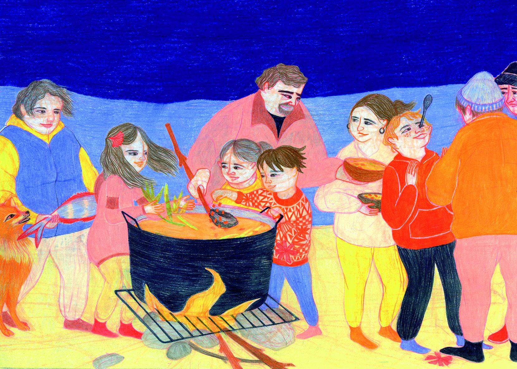 Cocina en la caleta