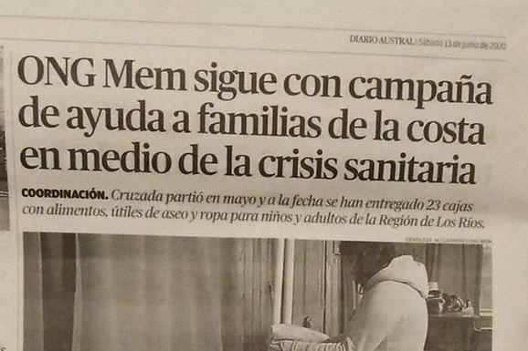 Canastas familiares en la costa de la Región de Los Ríos