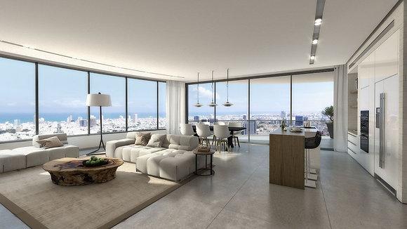 Gindi Tower Penthouse, Tel Aviv