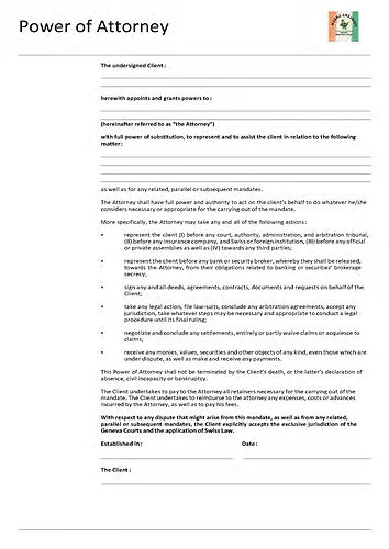 English - Power of Attorney - for pic to