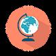 globe terrestre pour illustrer le fait que la vidéo pour être originale, esthétique, pas chère et les entreprises ont de bonnes publicités oy web-séries