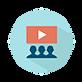 des clients regardant une vidéo d'entreprise (ou vidéo corporate)