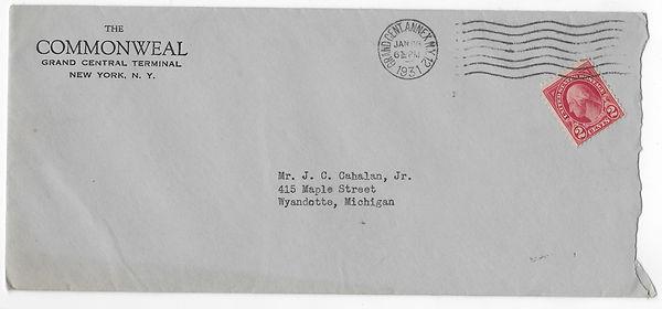 1931-01-28 Commonweal to John C. Cahalan