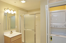 Spacious Baths & Washer/Dryers