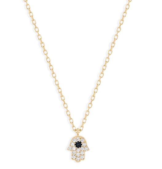 14k Gold Hamsa Necklace