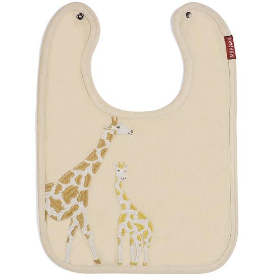 Giraffe Applique Linen Bib