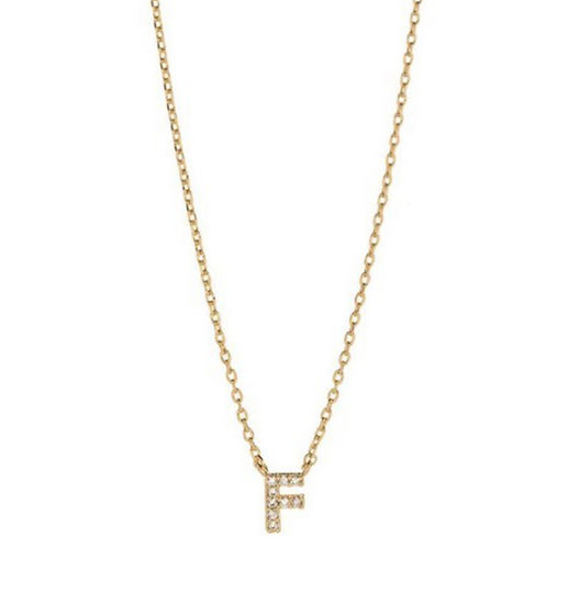 Cameron Rose CZ Initial Necklace