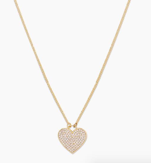 Kara Shimmer Heart Necklace