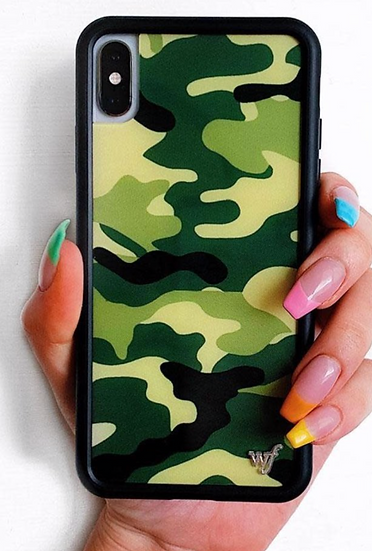wf Green Camo iPhone Case