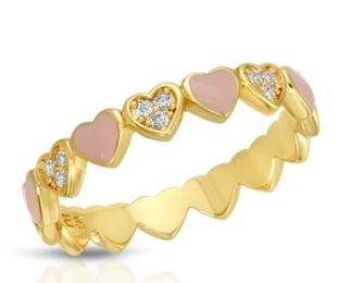 First Crush Stacking Ring-Pastel Pink