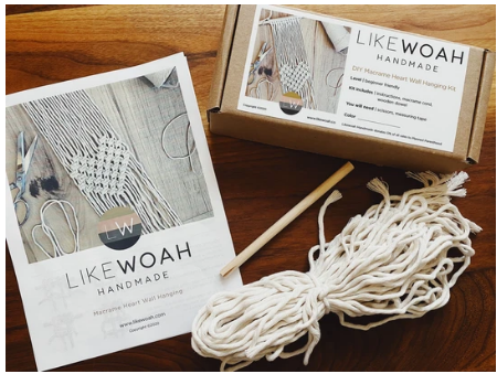Like Woah- DIY Macrame Heart Wall Hanging Art Kit