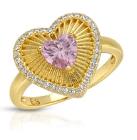 Love Struck Ring Pink or  Blue CZ