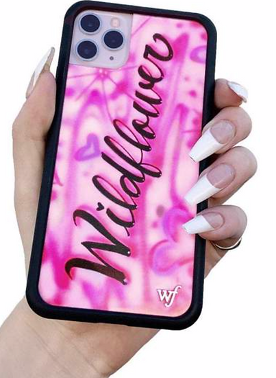 wf Pink Wildflower iPhone Case