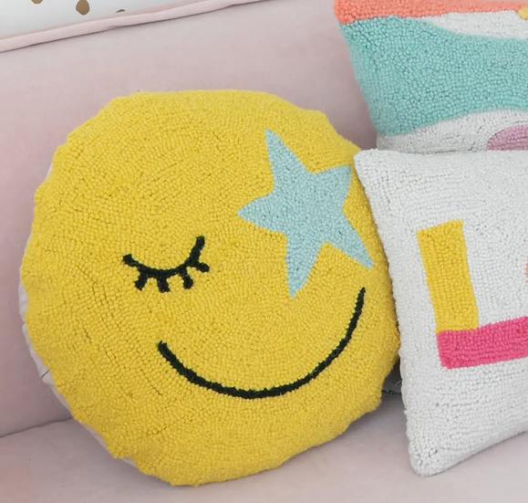 Starry Eye Emoji Pillow