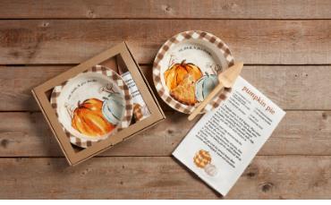 Pumpkin Pie Plate Set