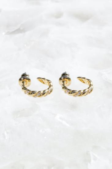 Trenza Mini Hoop Earrings