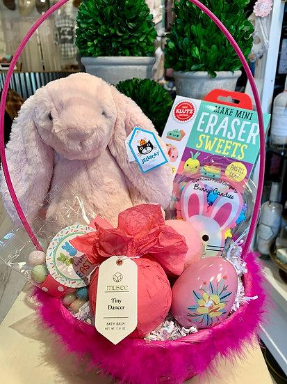Pink Bunny Easter Basket