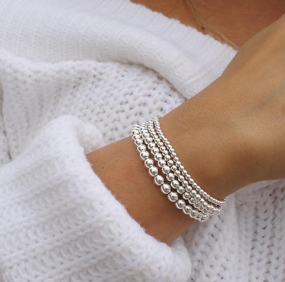 Sterling Silver Beaded Bracelets