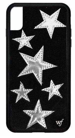 wf Black Velvet Silver Stars iPhone Case