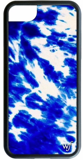 wf Blue Tie Dye iPhone Case
