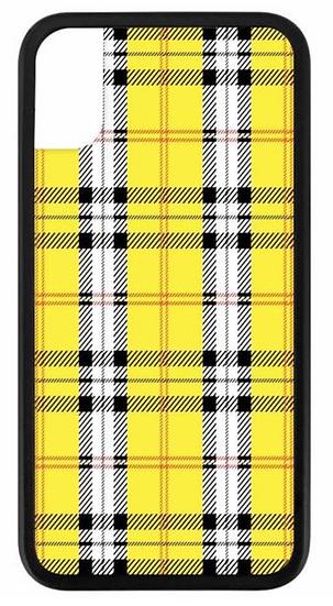 wf Yellow Plaid iPhone Case
