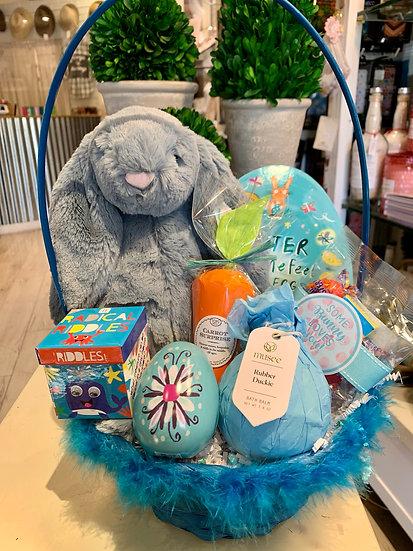 Blue Bunny Easter Basket