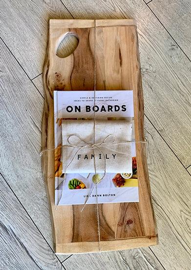 Acacia Wood Board Gift Set