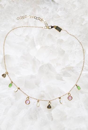Short Candy Gem Necklace