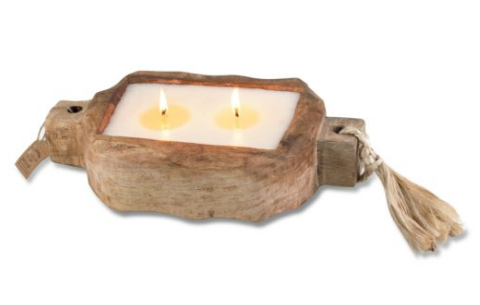 Small Driftwood Candle Tray
