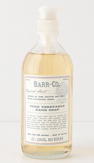 Barr-Co Pure Vegetable 16oz Hand Soap