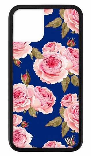 wf Navy Floral iPhone Case