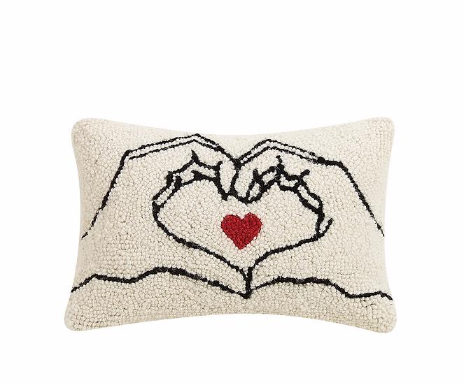 Heart Hands Hook Pillow
