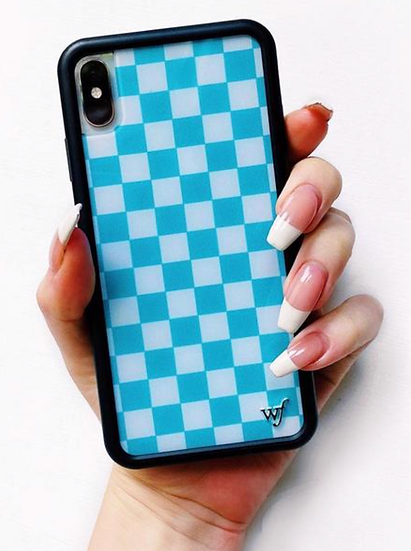 wf Blue Checkers iPhone Case