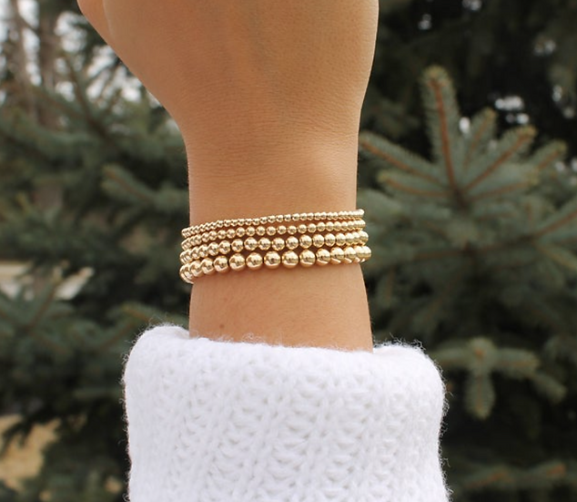 Gold Filled Beaded Bracelets