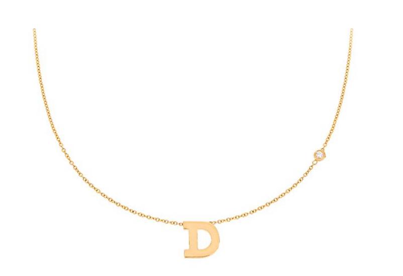 Personalized 14k Mini Initial with Diamond - Maya J Jewelry