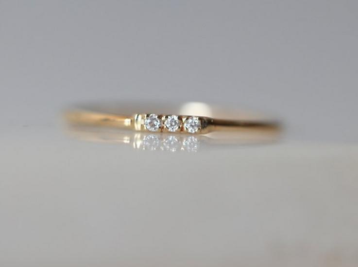 Tic Tac Diamond Ring - Gjenmi