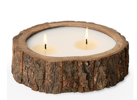 Medium Tree Bark Pot Candle