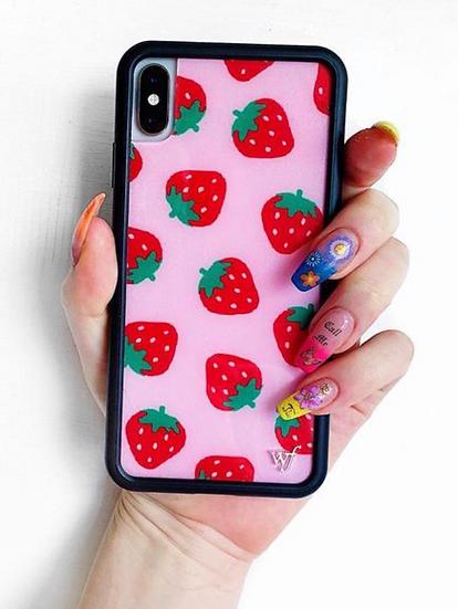 wf Strawberry iPhone Case