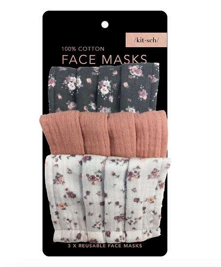 Kitsch Floral Face Mask Set