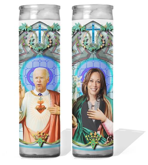 Joe Biden and Kamala Harris Prayer Candle Set