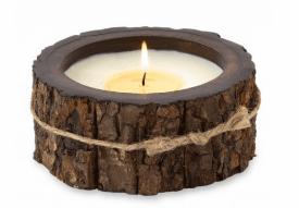 Small Tree Bark Pot Candles