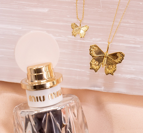Girl's Crew Mini Butterfly Necklace
