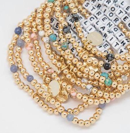 Little Words Project Bracelets - Gold Filled