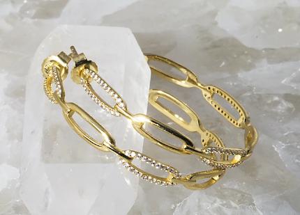 Links Hoops in 14k Gold Vermeil
