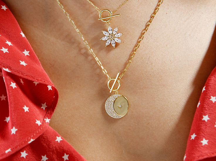 Girl's Crew Golden Skies Mini Linked Necklace