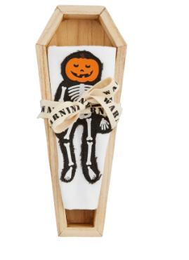 Pumpkin Coffin Cracker Dish And Towel Set