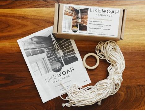 Like Woah DIY Macrame Plant Hanging Kit