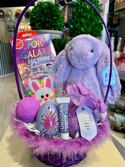 Purple Bunny Easter Basket